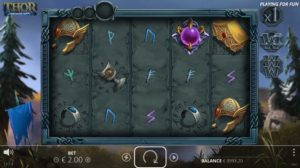 Snygg grafik som inspirerats av fornnordisk mytologi i spelet Thor