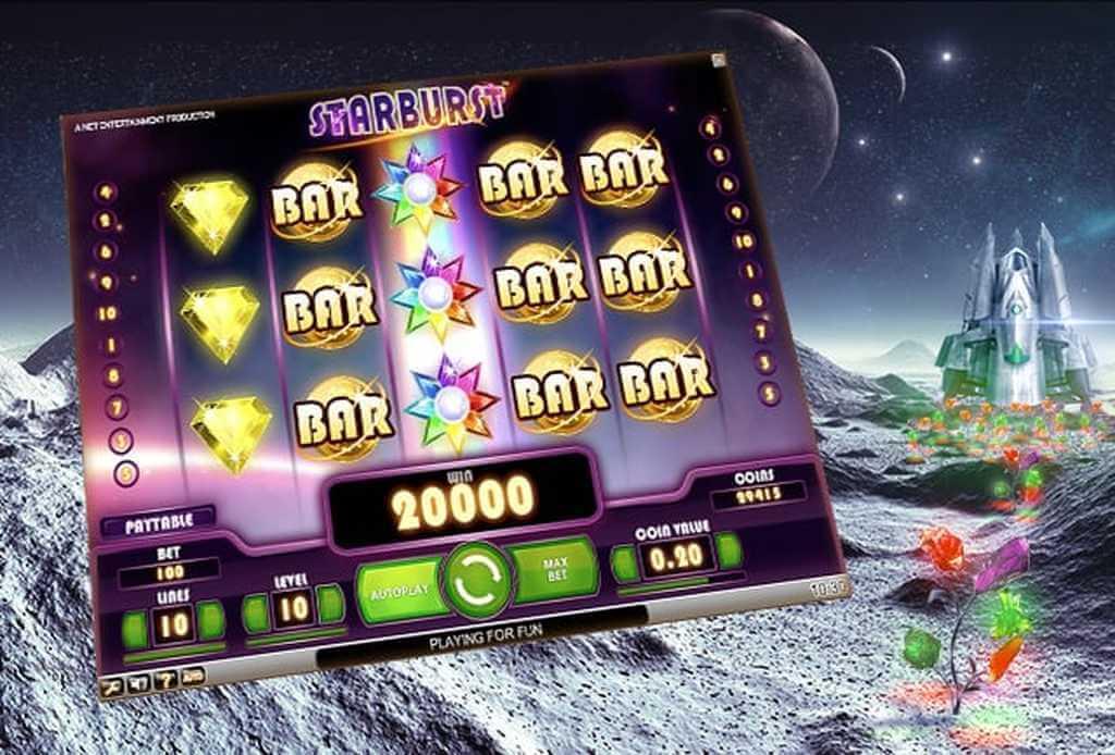 Starburst är ett exempel på casinospel med låg volatilitet.